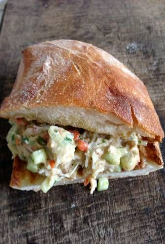 Crab Salad with Tarragon, Chives and Homemade Mayo; modify to lettuce wrap