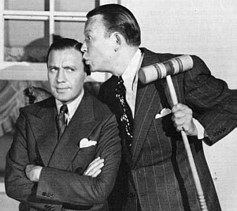 The famous radio feud: Jack Benny and Fred Allen.
