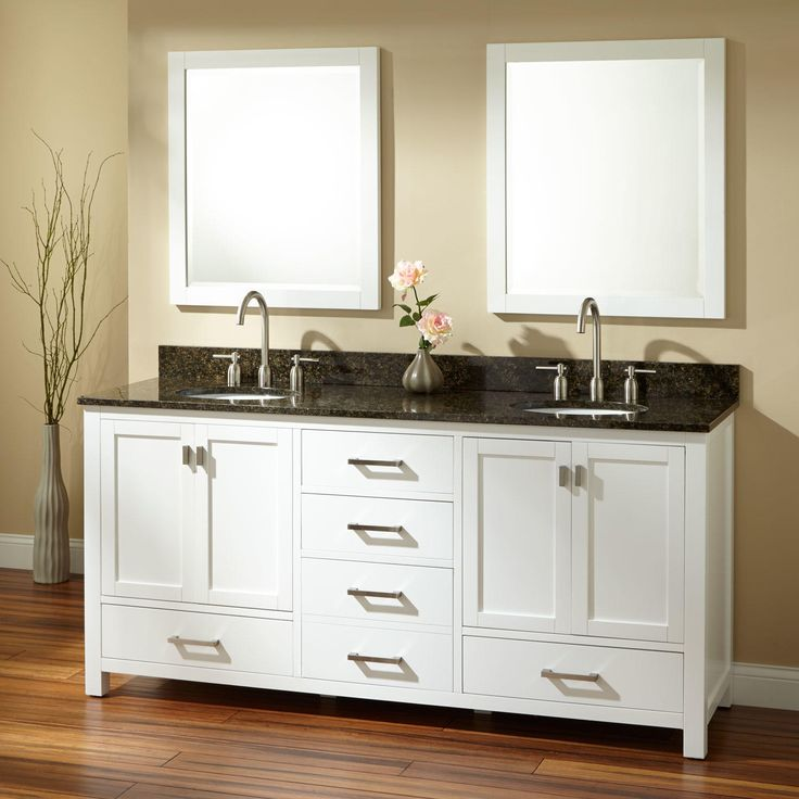 Image Gallery Website  Modero Double Vanity for Undermount Sink White