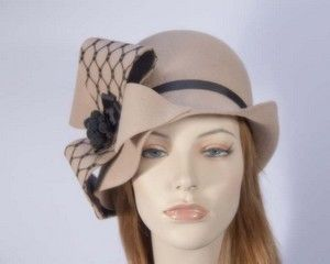 Cloche winter felt fashion hat for autumn and winter races buy online in Aus F550