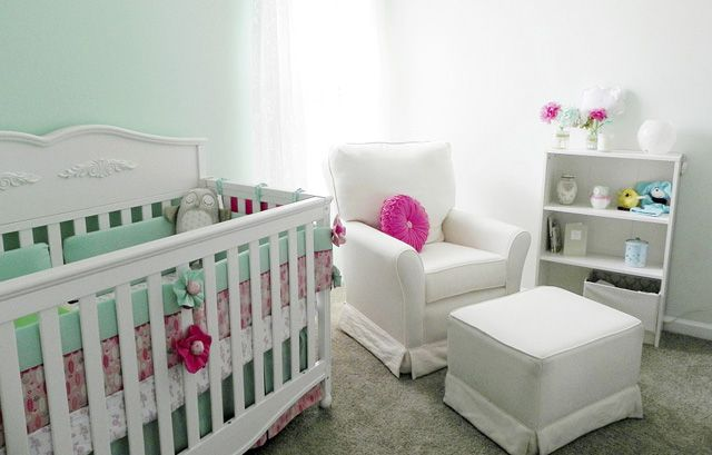 {Nursery Color Trends by Project Nursery} - we love mint green and pink in the #nursery