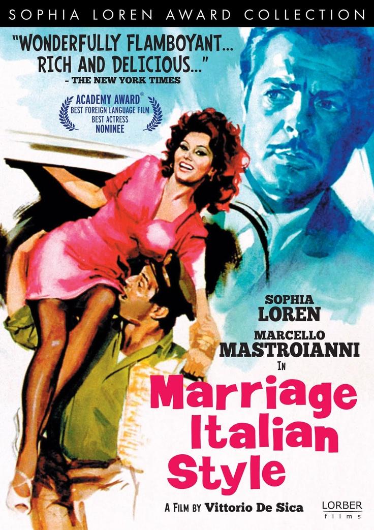 MARRIAGE ITALIAN STYLE - Sophia Loren - Marcello Mastroianni - Directed by Victoria De Sica - DVD cover art.