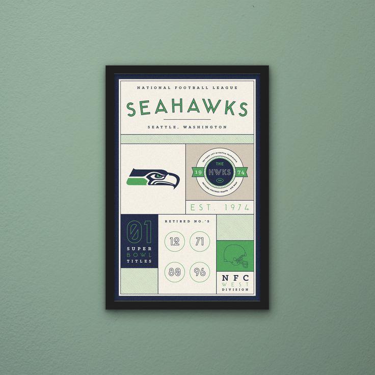 Seattle Seahawks Stats Print by PortlySportsman on Etsy