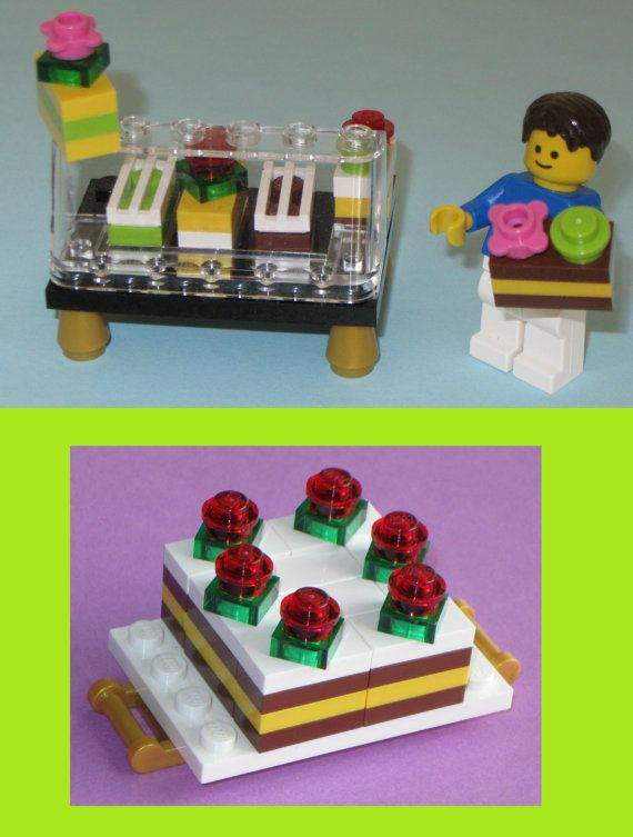 Lego Custom Cake Bakery Set: Wedding Cake + Pastry Counter + Chocolate Custard…