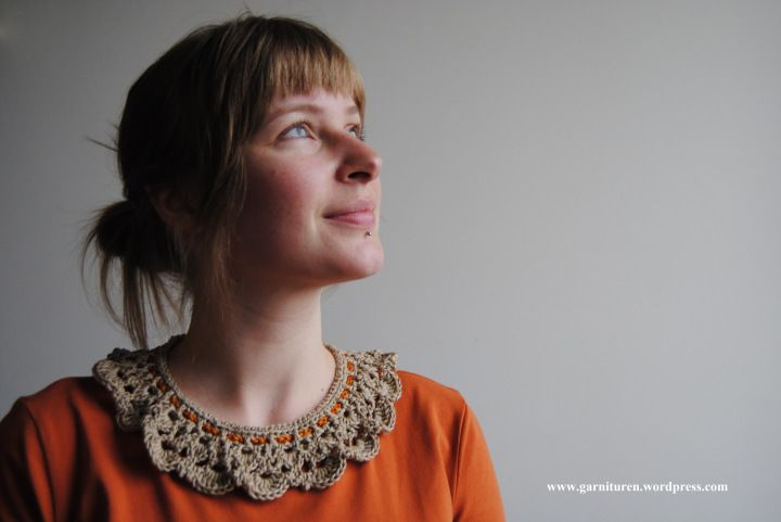 Crochet Collar with pattern + diagram
