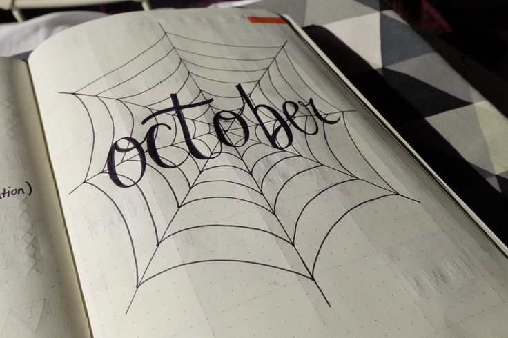 Bullet Journal - October monthly title