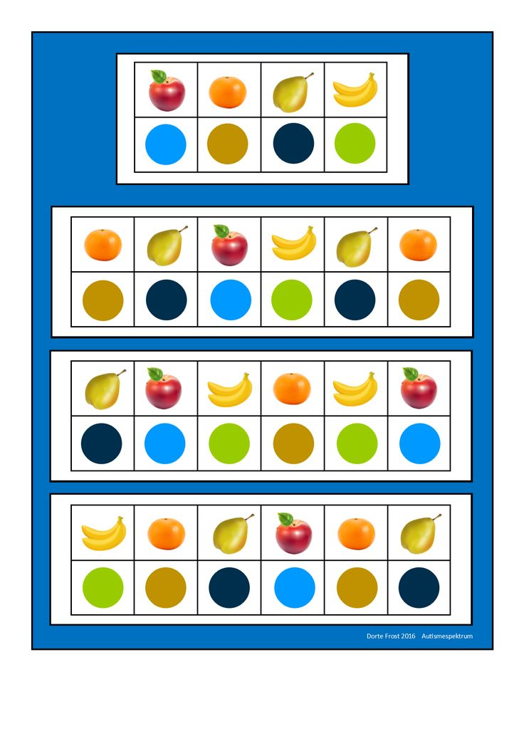Tiles for the two fruit visual perception game. Find the belonging boards on Autismespektrum on Pinterest. By Autismespektrum