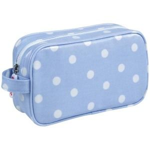 Blue Colour Spotted PVC Cosmetic Bag