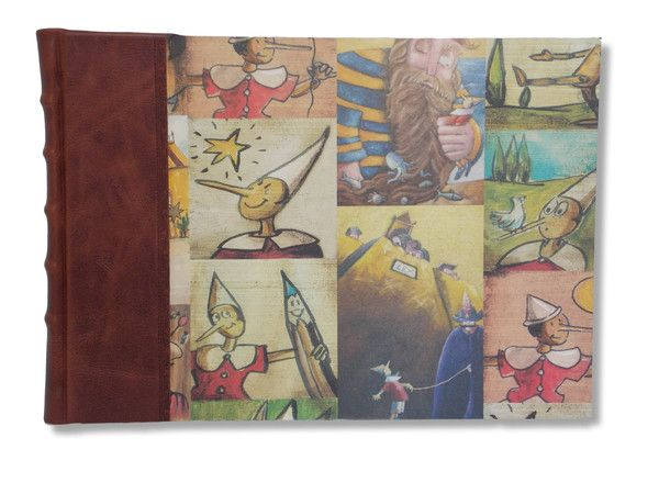 Pinocchio - Handcrafted Leather Landscape Album #boundinbendigo