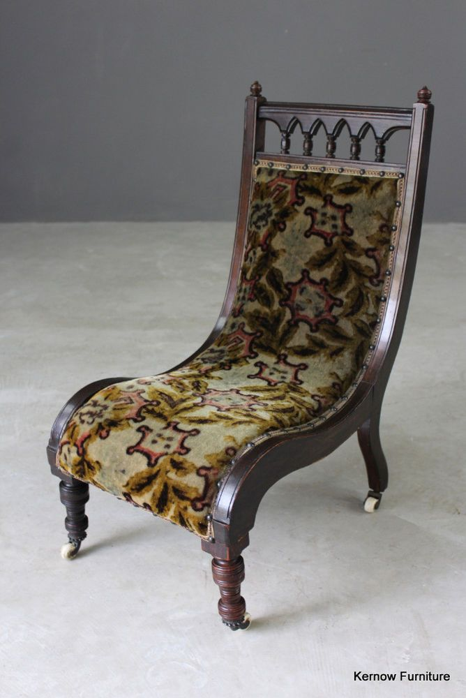 Antique Victorian Small Nursing Bedroom Occasional Chair Occasional Chairs Occasional Chairs Bedroom Chair