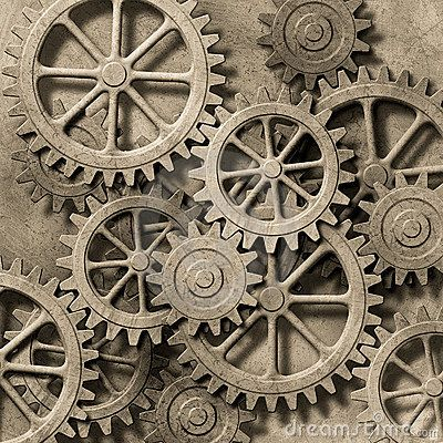 Mechanical Background by Binkski, via Dreamstime