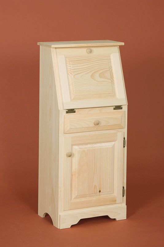 Small Drop Door Desk. Great For Small Spaces With Extra Door And Drawer For  Storage. Unfinished Pine FurnitureDoor ...