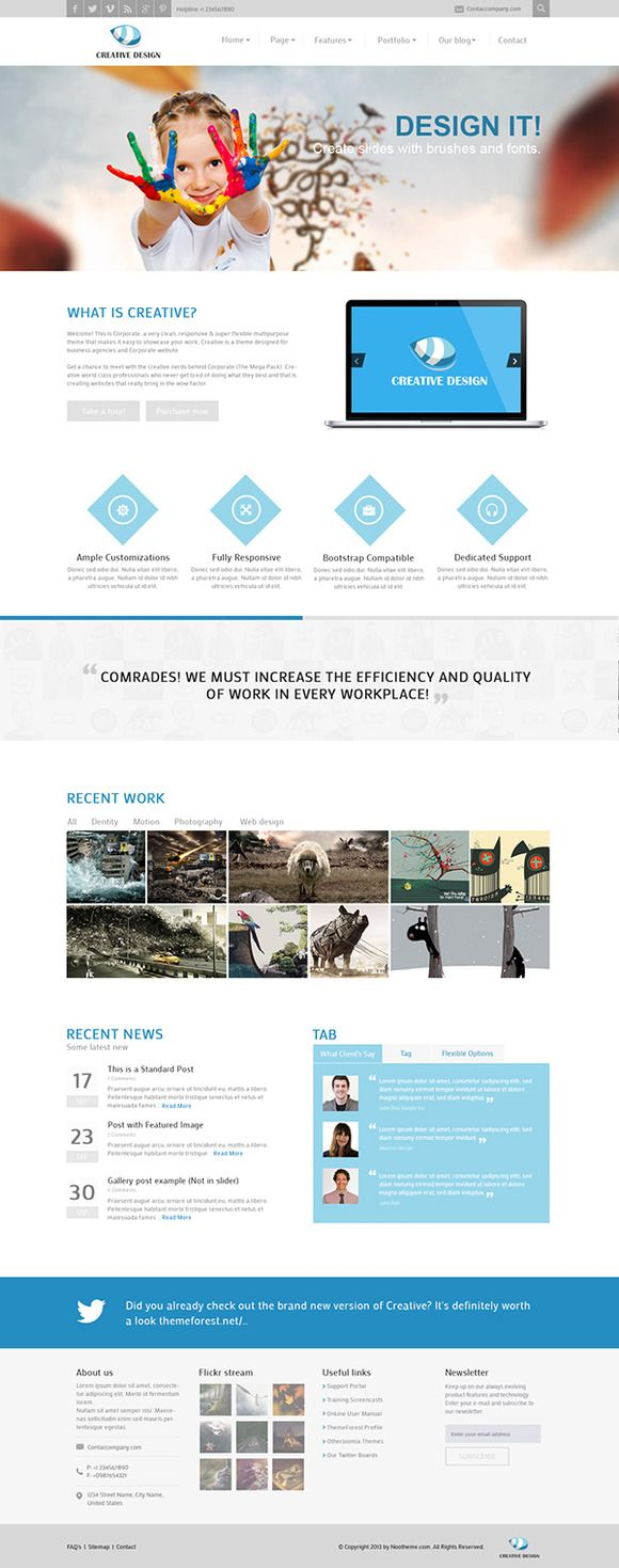 Creative-Responsive Joomla Template by JoomlaUX on @creativemarket