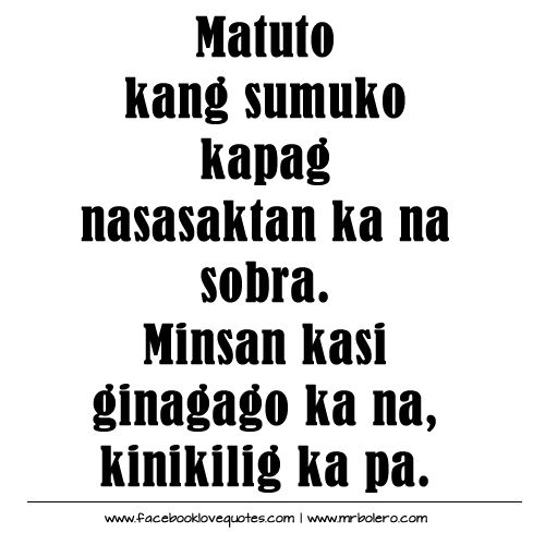 15 Best Images About Tagalog Quotes On Pinterest
