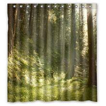 春緑の木の森に カスタマイズ カーテン生地風呂浴室防水シャワー カーテン サイズ 48 × 72,60 × 72,66 × 72 インチ(China…