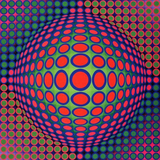 victor vazarely Op'Art ou Art Optique (Fin des années 60 en Europe et aux Etats-Unis)