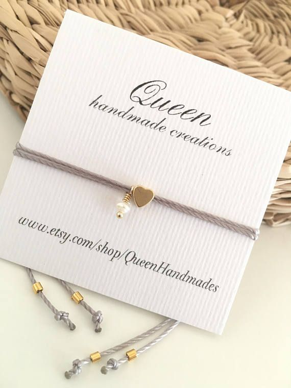 Kleines Herz Wunscharmband gold-Armband