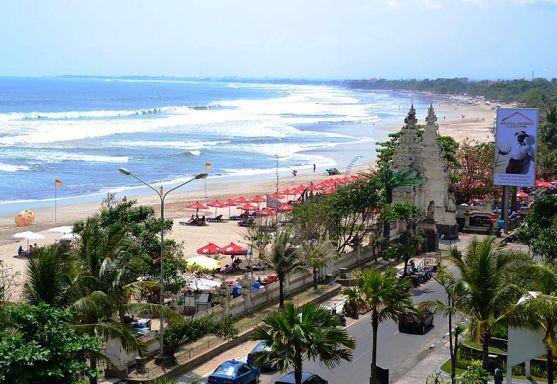 Kuta Beach in southern Bali Indonesia