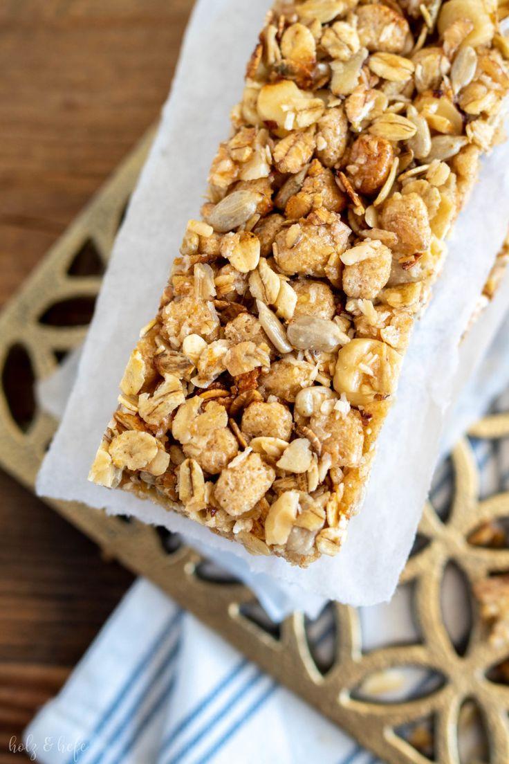 Selbstgemachte Müsliriegel – crunchy und schnell gemacht #Küchenaufbewahrung