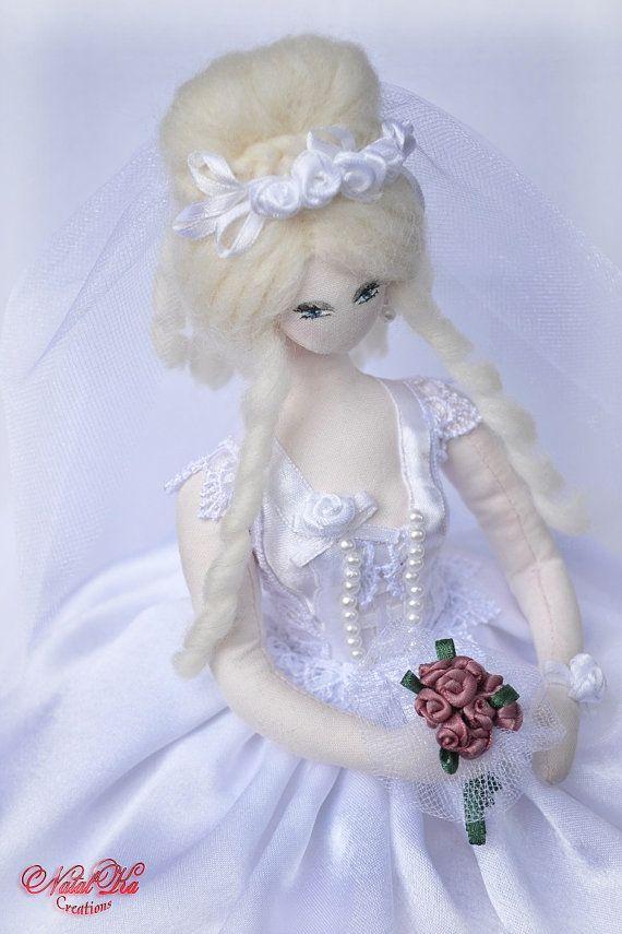 Reservado para Elsa Сollectible noiva boneca Diana por NatalKaCreations