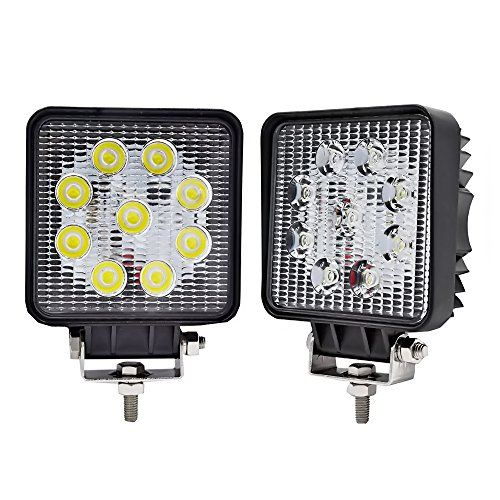 JAHURD LED Light Bar 27W, led light pods 2pcs 4 inch, Off-road Lights, driving fog lamp, flood led light cubes 2pcs, 4WD led work light 12v for jeeps ford trucks 4x4 - We are focused on LED field over 10 years, mainly supply Automotive Lights such as Work Light, LED Light Bar,LED Panel Lights,etc. All products pass the CE and RoHs certification.We have partners like Europe, US,Australia,Canada,Middle East and Asia countries.Welcome to choose our products. Speci...