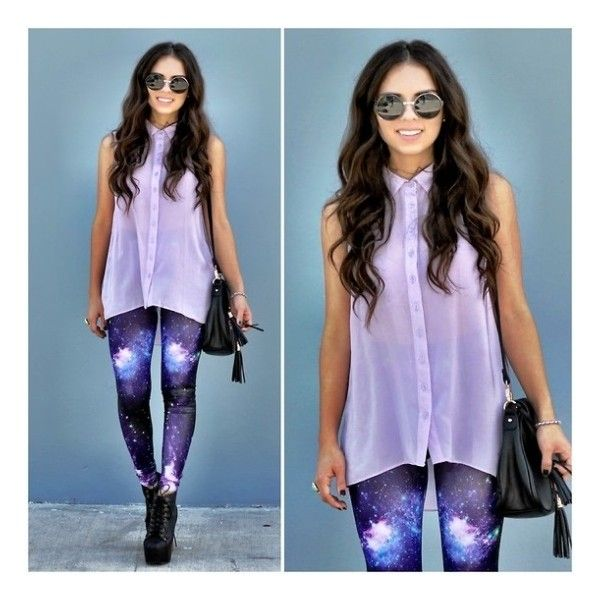 Galaxy leggings- Out of this world! ❤ liked on Polyvore featuring pants, leggings, outfits, models, people, galactic leggings, galaxy print pants, cosmic leggings, galaxy print leggings and black pants