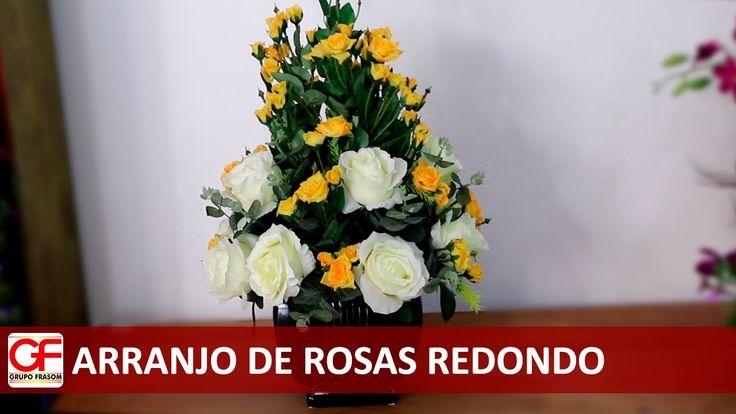 Arranjo de Rosas Redondo