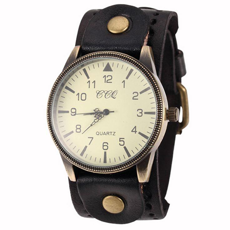 Relógio de Couro Do Vintage da moda Pura Cor Retro Homens Relógio de Quartzo Analógico relógios de Pulso Reloj Masculino em Relógios de quartzo de Relógios no AliExpress.com | Alibaba Group