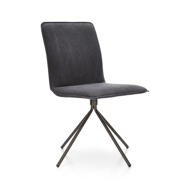 whirl swivel grey upholstered dining chair crate and barrel