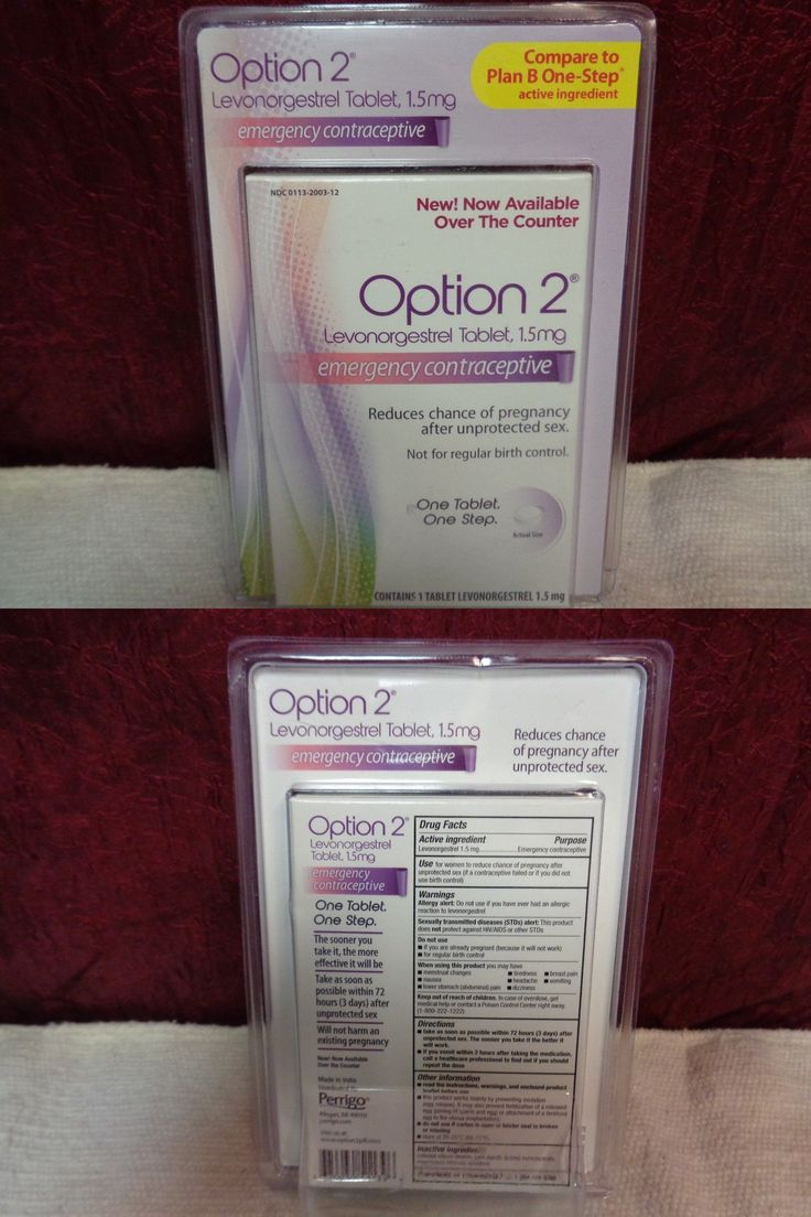 Other OTC Medicine: Option 2 Levonorgestrel 1.5 Mg Emergency Contraceptive -> BUY IT NOW ONLY: $30 on eBay!