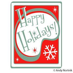 Happy Holidays Clip Art http://andynortnik.com/christmas-clip-art.htm