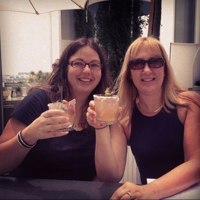 Carmen & Michele, afternoon drinks at @Mondrian_LAX #WeHo