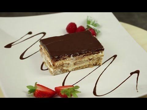 Eclair Kuchen Rezept ohne backen mit Keksen
