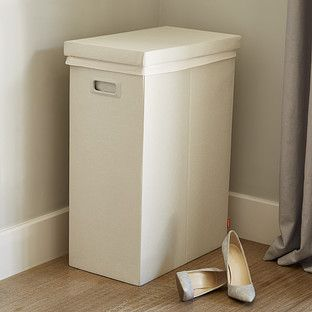 Container Store Linen Poppin Laundry Hamper with Lid