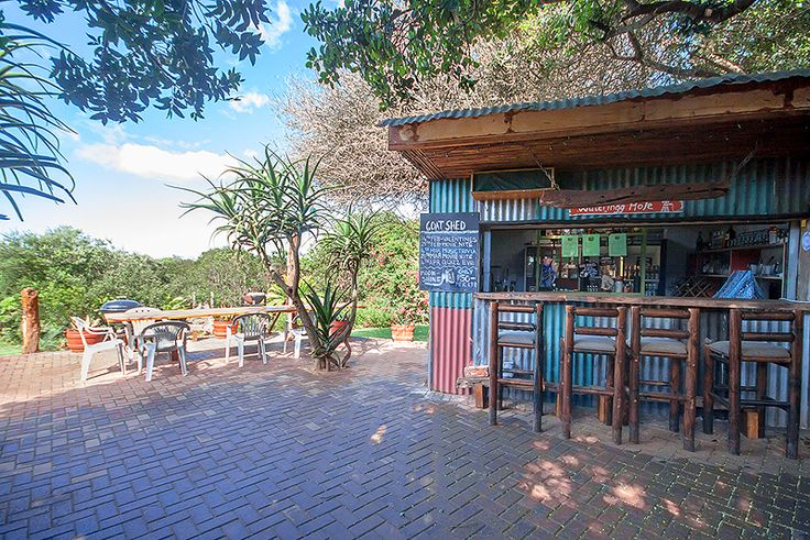 The Goat Shed in Kenton-on-sea, Eastern Cape  The Goat Shed is a family friendly venue that is the ideal place to get together, and rumour has it that you can find the best calamari and steaks here. This popular Kenton-on-sea bush bistro is set in a lush indigenous garden with access to the river a mere stroll away.  To see more of The Goat Shed, click on http://www.wheretostay.co.za/thegoatshed/