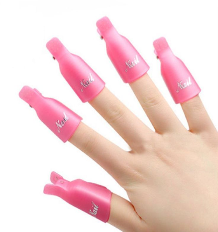 10 PCS Plastic Nail Art Soak Off Cap Clip/Nail Accessory, Pink -- Learn more by visiting the image link.