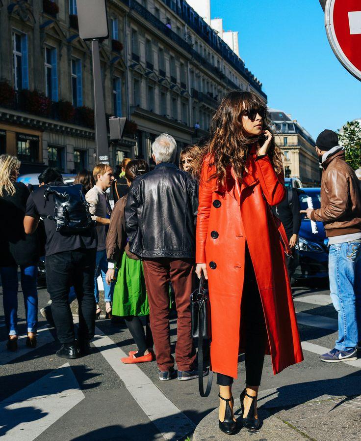Miroslava Duma in a Derek Lam coat