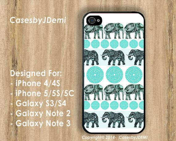 Elephant Tribal iPhone Case Elephant iPhone 5 Case by CasesByJDemi, $8.99