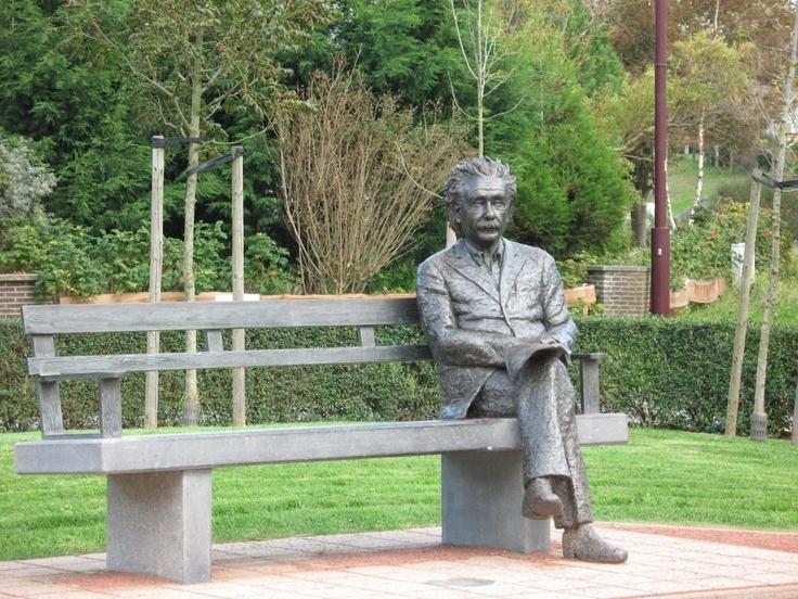 Statue of Albert Einstein in De Haan, Belgium