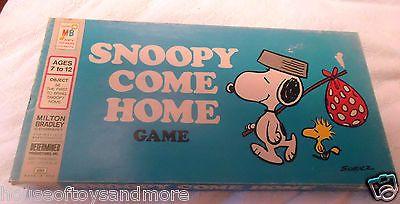 Snoopy Come Home 1966 Milton Bradley Vintage Board Game