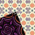 Оранжево-фиолетовые узоры