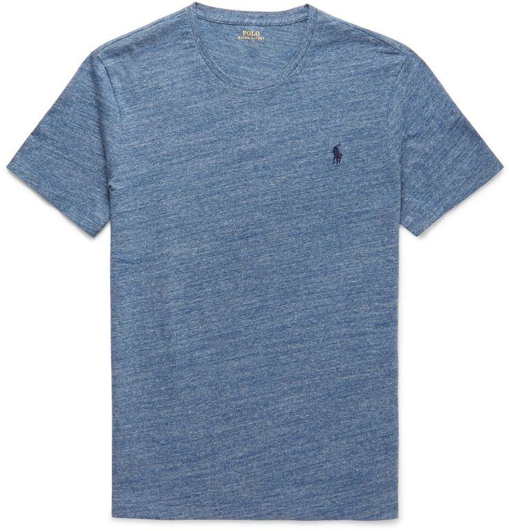 SLIM-FIT MARLED COTTON-JERSEY T-SHIRT POLO RALPH LAUREN
