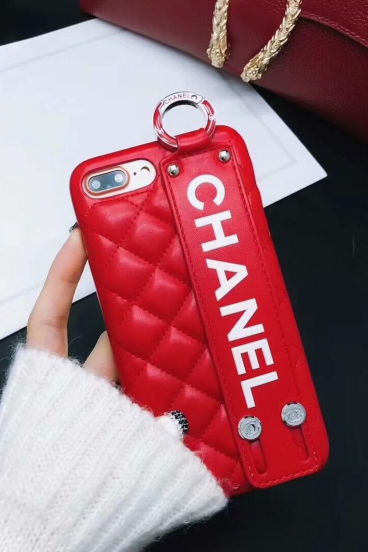 Chanel iphone case red 11 pro xs max xr 8 plus luxury