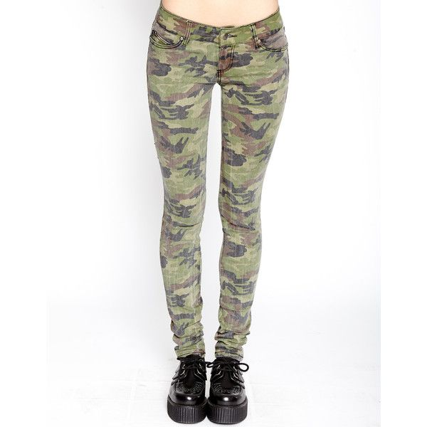HEAVY WASH CAMO SKINNY JEAN ❤ liked on Polyvore featuring jeans, camo print skinny jeans, camouflage skinny jeans, white jeans, camouflage jeans and skinny leg jeans