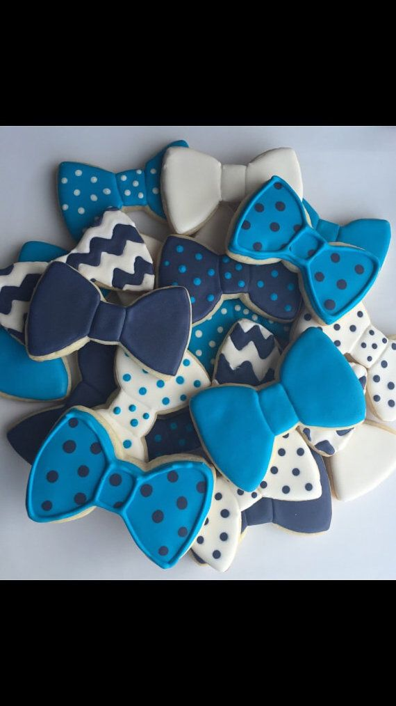 2 Dozen Bow Tie Sugar Cookies Bow Tie Cookies by SavannaSweets