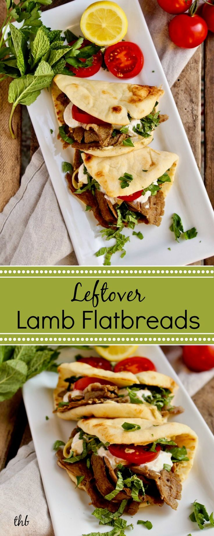 Leftover Lamb Flatbreads