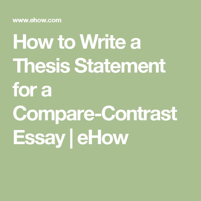 compare contrast thesis examples