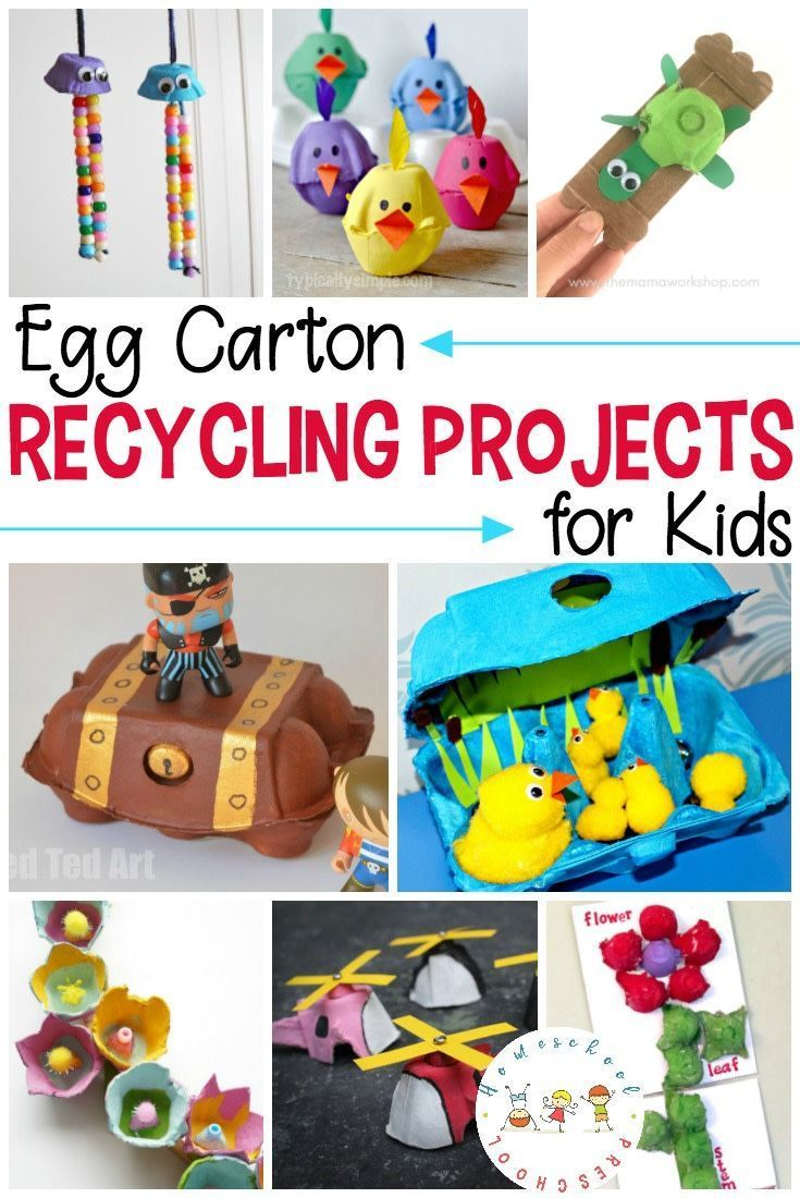 How To Make Simple Egg Carton Recycling Projects Recycling Projects For Kids Kids Art Projects Recycled Art Projects