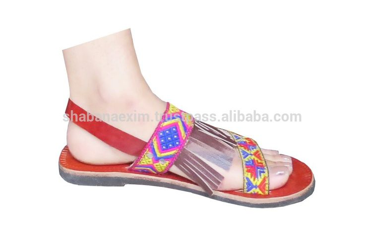 Check out this product on Alibaba.com APP Genuine Leather ladies Casual Beach Sandals flat Indian Slippers lace-up