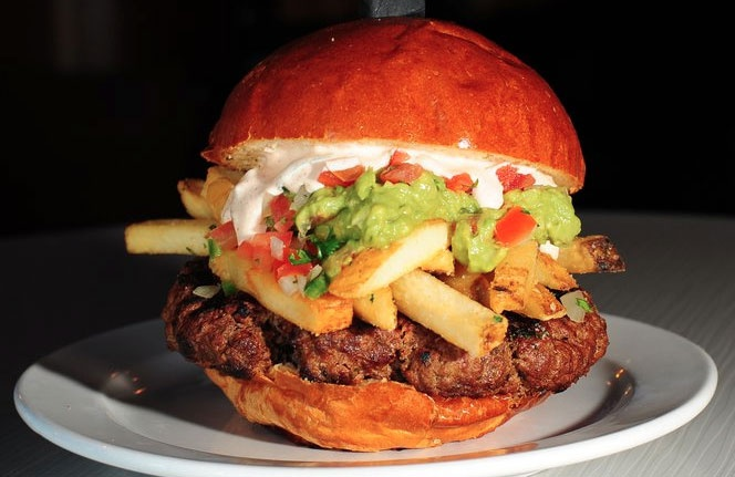 slater's 50/50: California Burrito Burger | Food ...